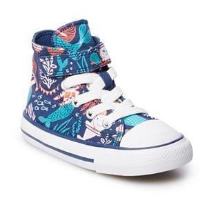 Toddler Girls' Converse Chuck Taylor All Star 1V Mermaid High Top Shoes