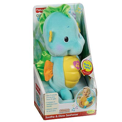 Fisher-Price Ocean Wonders Soothe and Glow Sea Horse - Blue