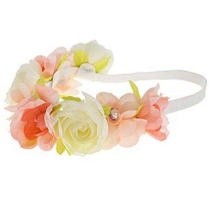 Girls Elli by Capelli Floral Head Wrap with Gems