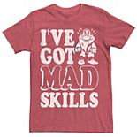 Men's Disney Snow White Grumpy Mad Skills Text Poster Tee