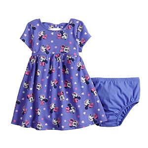 Disney's Minnie Mouse Baby Girl Bow Back Skater Dress by Jumping Beans®