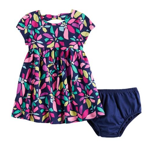 Baby Girl Jumping Beans® Bow Back Skater Dress