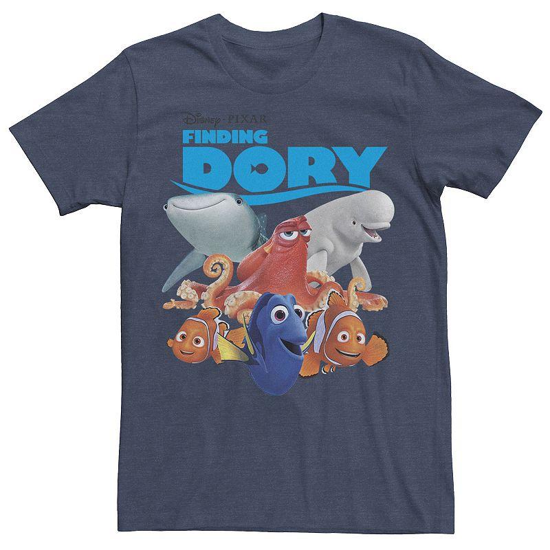 Men's Disney / Pixar Finding Dory Nemo The Crew Tee, Size: Medium, Med Blue