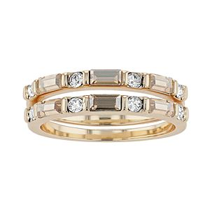 Brilliance Stacking Ring Set with Swarovski Crystal
