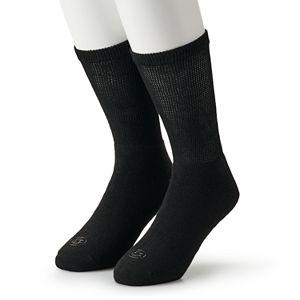 Men's Doctor's Choice 2-pack Diabetic Crew Socks - Extended Size