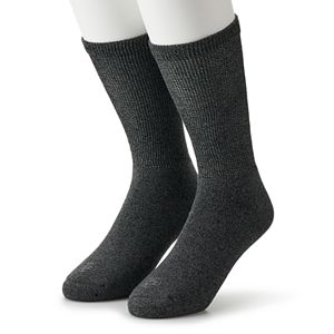 Men's Doctor's Choice 2-pack Diabetic Cushioned Crew Socks - Extended Size