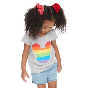 Disney Mickey Mouse Toddler Girl Rainbow Pride Graphic Tee by Family Fun?