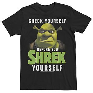 Men's Shrek Check Yourself Before You Shrek Yourself Tee