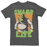 Men's Shrek Cartoon Swamp Life Tee