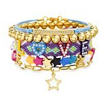 "Women's Madden Girl ""Love"" & Stars Beaded Stacking Friendship Bracelet Set"