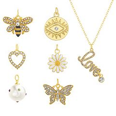 Madden Girl Interchangeable Gold-Tone Charm Necklace Gift Set