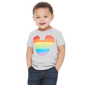 Disney Mickey Mouse Toddler Boy Rainbow Pride Graphic Tee by Family Fun?