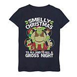 Girls' 7-16 Shrek Smelly Christmas Group Shot Tee