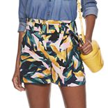 Women's Apt. 9® Belted Soft Crepe Shorts