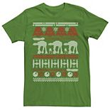 Men's Star Wars Battle Of Hoth Ugly Christmas Sweater Tee