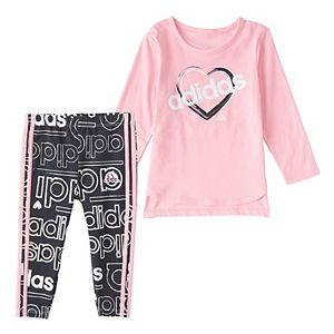 Baby Girl adidas Tee & Leggings Set