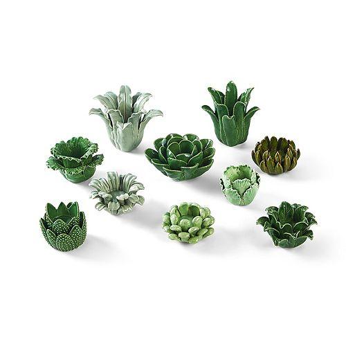 Succulent Candleholder 10-Piece Set