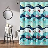 Lush Decor Sea Life Shower Curtain