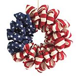 Celebrate Americana Together Burlap Wreath