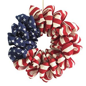 Celebrate Americana Together Burlap Wreath
