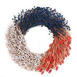 Celebrate Americana Together Dried Botanical Patriotic Wreath