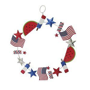 Celebrate Americana Together Summer Metal Wreath