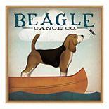 Amanti Art Beagle Canoe Co Framed Canvas Wall Art