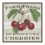 Amanti Art 'Farm Fresh Cherries' Framed Canvas Wall Art