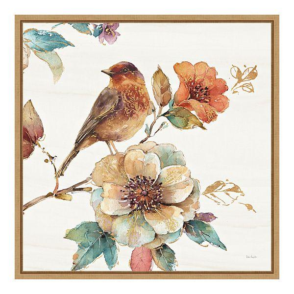 Amanti Art Spiced Nature Ii Soft White Framed Canvas Wall Art
