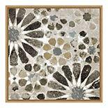 Amanti Art 'Alhambra Tile II Neutral' Framed Canvas Wall Art