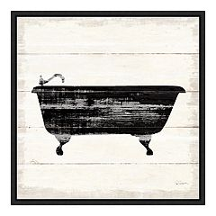 Amanti Art 'Shiplap Bath I' Framed Canvas Wall Art