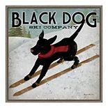 "Amanti Art ""Black Dog Ski Co"" Framed Canvas Wall Art"
