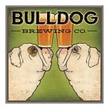 Amanti Art Bulldog Brewing Framed Canvas Print