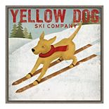 Amanti Art Yellow Dog Ski Co Framed Canvas Print