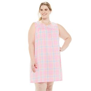 Plus Size Croft & Barrow® Pintuck Yoke Nightgown