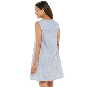 Petite Croft & Barrow® Pintuck Yoke Nightgown