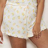 Plus Size LC Lauren Conrad Ruffle Pajama Shorts