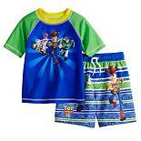 Disney / Pixar Toy Story 4 Toddler Boy Rash Guard Top & Swim Trunks Set