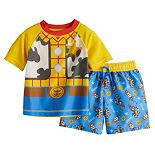 Disney / Pixar Toy Story Baby Boy Woody Rash Guard Top & Swim Trunks Set