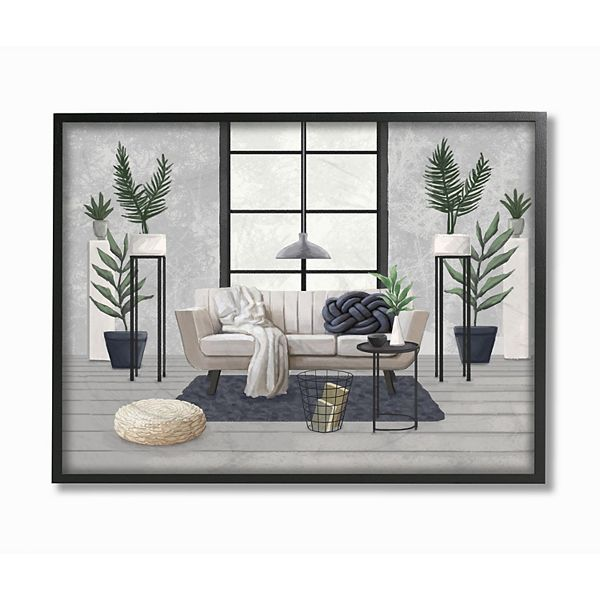 Stupell Home Decor Modern Living Room Interior Design Wall Art
