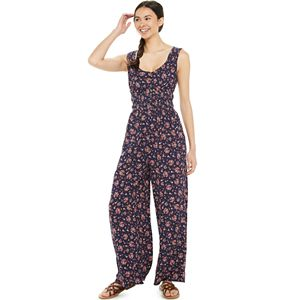 Juniors' SO® Smocked Bodice Jumpsuit