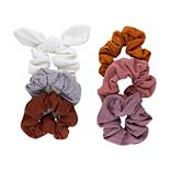 SO® 6-pack Muted Tones Solid Hair Scrunchies