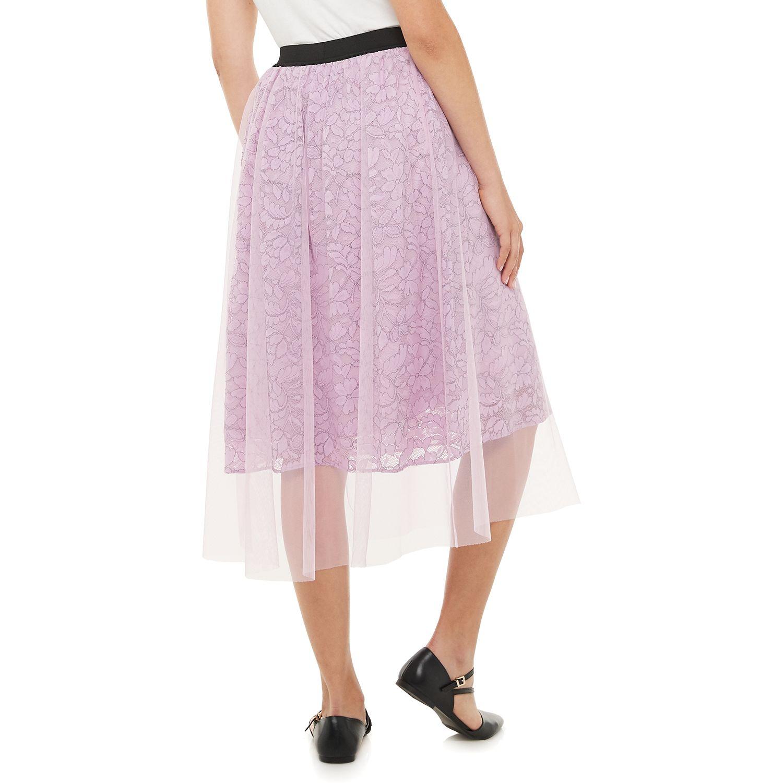Women's ELLE™ Mesh Lace Skirt