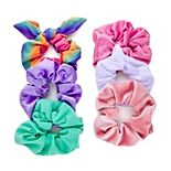 SO® Rainbow Pastel Scrunchie Set