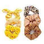 SO® Yellow & Tan Scrunchie Set