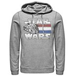 Men's Star Wars Red White Blue Stripes Falcon Hoodie