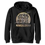 Boys 8-20 Star WarsThe Mandalorian Character Collage Graphic Fleece Pullover