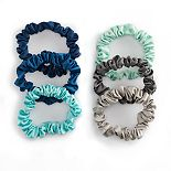 Blues & Grays Thin Scrunchie Set