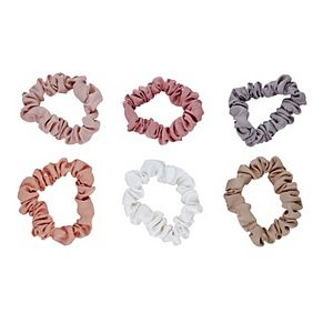Women's 6-pack Thin Hair Scrunchies