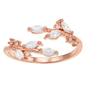 LC Lauren Conrad Cubic Zirconia Leaf Wrap Ring